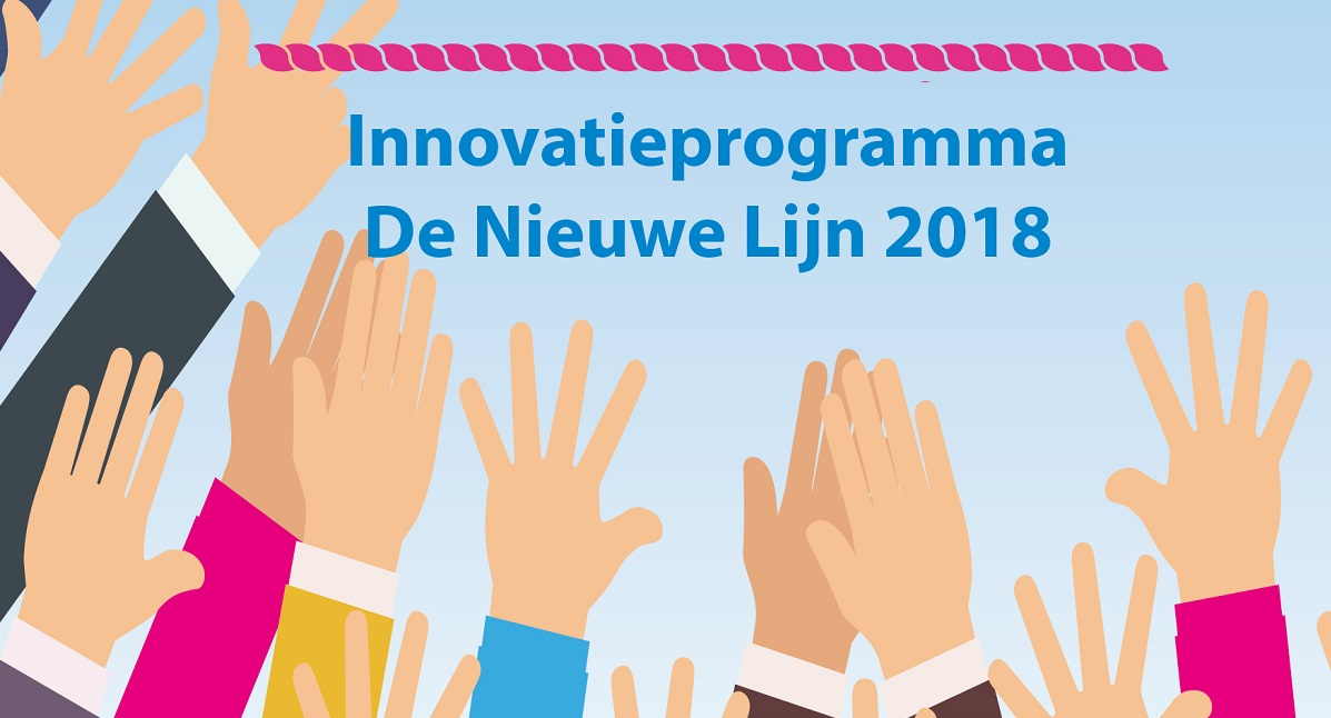 <span>Innovatieprogramma De Nieuwe Lijn 2018</span>Innoveren doe je niet alleen. Elkáár inspireren, samen experimenteren, samen leren en samen successen vieren! Daarom is er het Innovatieprogramma De Nieuwe Lijn 2018!